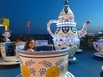 My duaghter riding tea cups