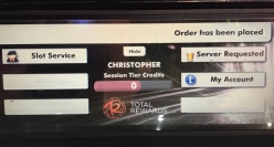 drink ordering from machine