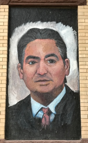 John Simpson painting of our Mayor Sarno