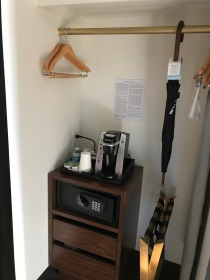 Coffee maker and umbrella